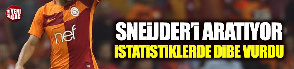 Sneijder'i aratıyor, istatistiklerde dibe vurdu