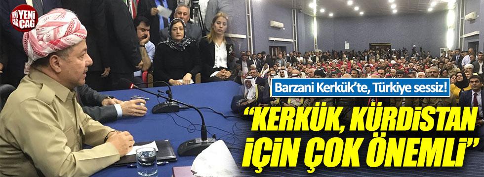 Barzani Kerkük'te, Türkiye sessiz!