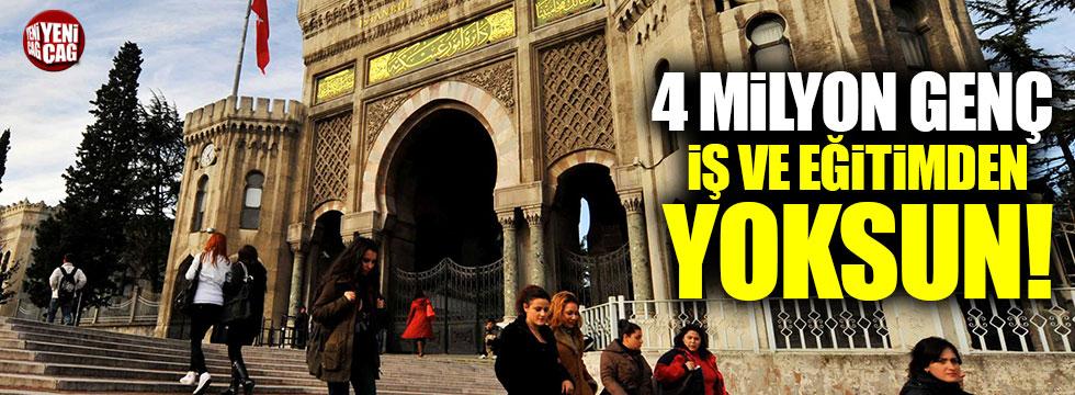 4 milyon genç iş ve eğitimden yoksun