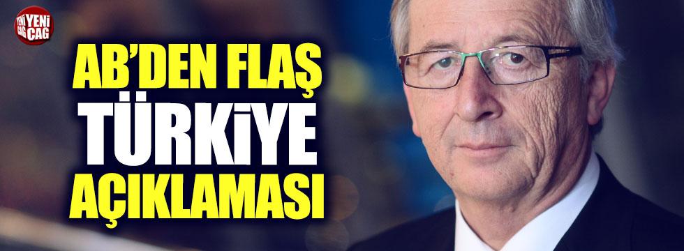 AB'den flaş Türkiye açıklaması