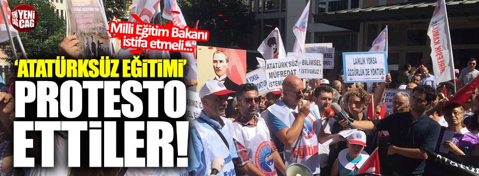 'Atatürksüz eğitim istemiyoruz' eylemi