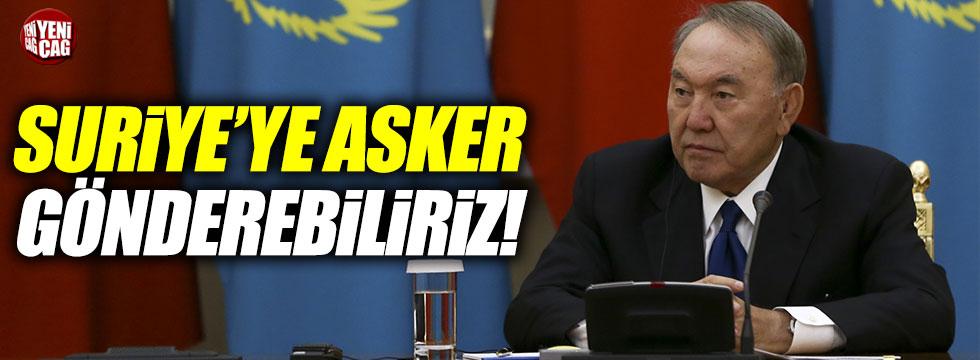"""Nazarbayev: """"Suriye'ye asker gönderebiliriz"""""""