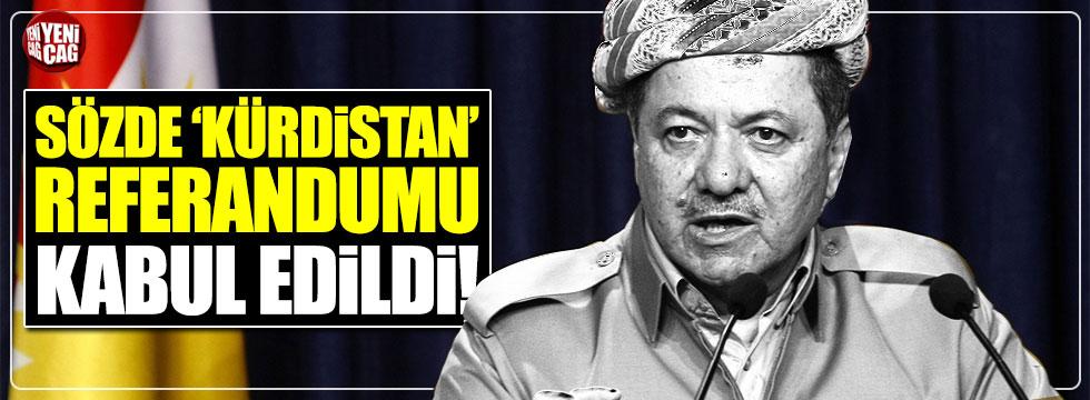 Sözde 'Kürdistan' referandumu kabul edildi