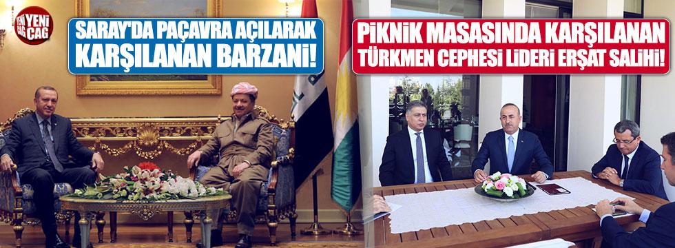 Peşmerge başı Saray'da, Türkmen lider balkonda ağırlandı!