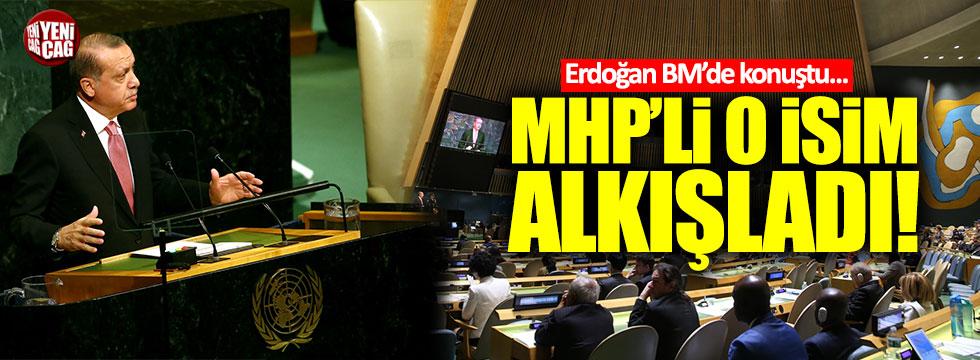 Erdoğan ABD'de konuşurken, MHP'li o isim böyle alkışladı!