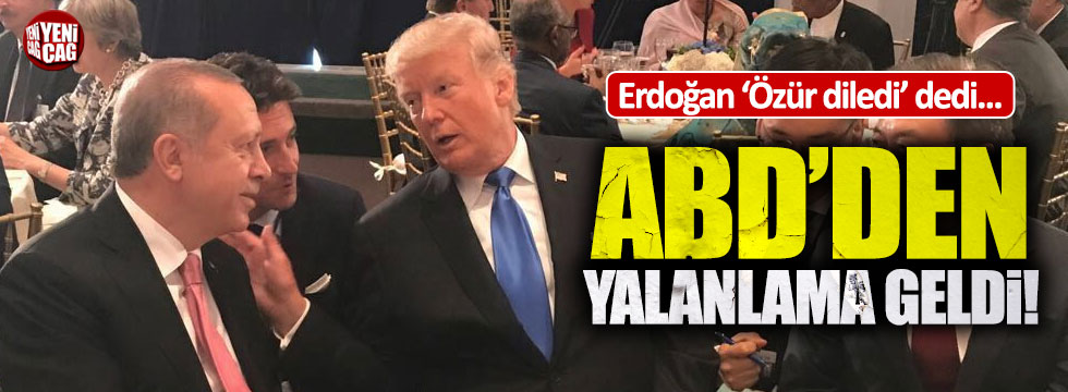 Erdoğan'ın açıklamalarına ABD'den yalanlama