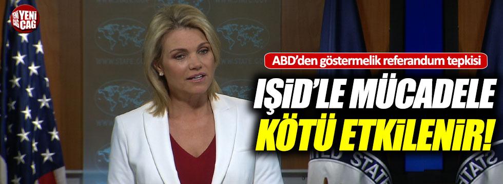 ABD'nin derdi IŞİD'le mücadele