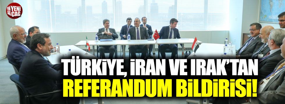 Türkiye, Irak ve İran'dan ortak bildiri
