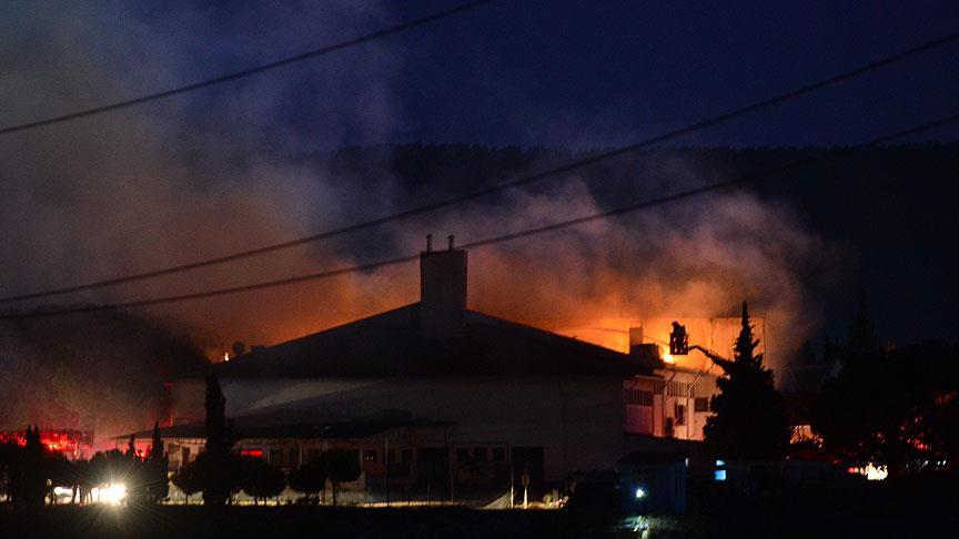 Çanakkale Cezaevi'nde yangın