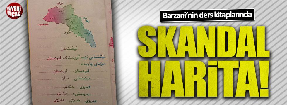 Barzani'nin ders kitaplarında skandal harita
