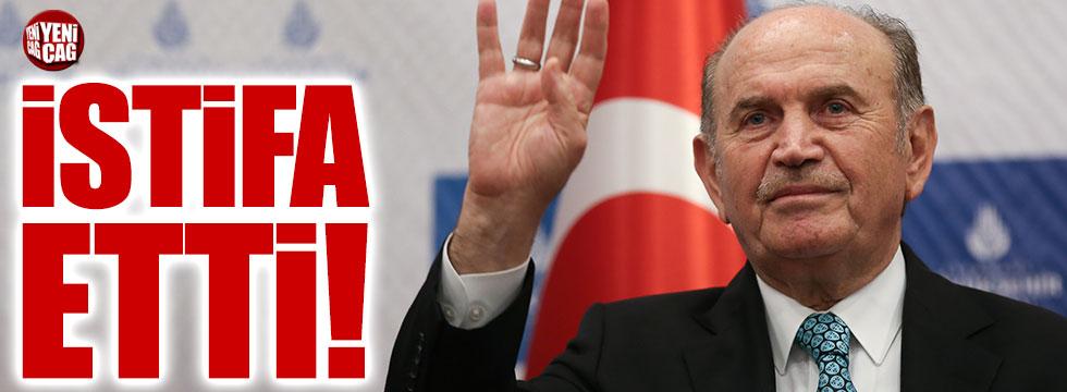 Kadir Topbaş istifa etti
