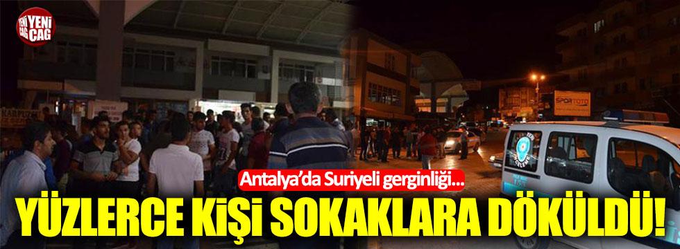 Antalya'da Suriyeli gerginliği... Yüzlerce kişi sokaklara döküldü!
