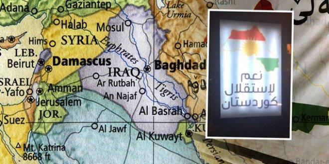 Referandum öncesi Erbil sokaklarında skandal harita!