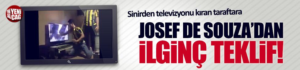 Josef de Souza'dan televizyonunu kıran taraftara ilginç teklif