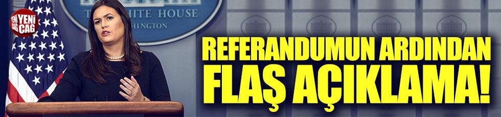 Referandumun ardından ABD'den ilk açıklama