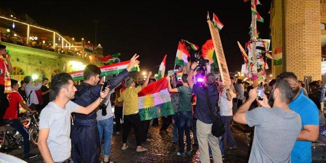 Erbil'de İsrail bayraklı kutlama!