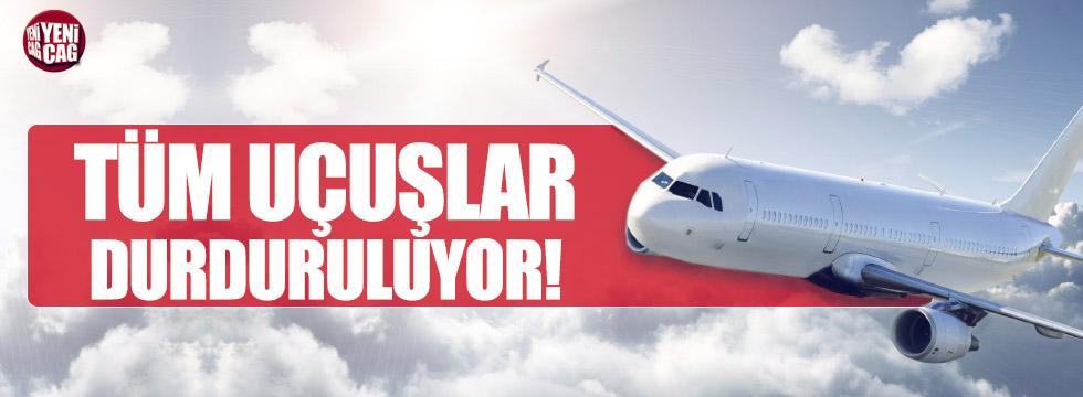 Erbil'e tüm uçuşlar durduruluyor