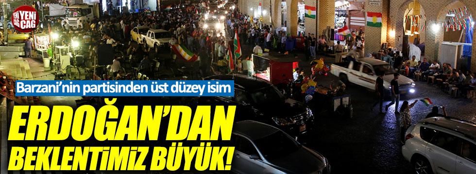 """Barzani'nin partisi: """"Erdoğan'dan beklentimiz büyük!"""""""