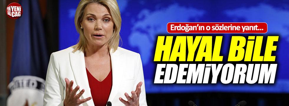 ABD'den Erdoğan'ın o sözlerine yanıt