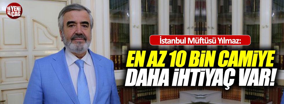 """İstanbul Müftüsü: """"10 bin camiye daha ihtiyaç var"""""""