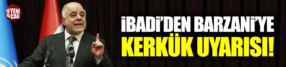 İbadi'den Barzani'ye Kerkük uyarısı!