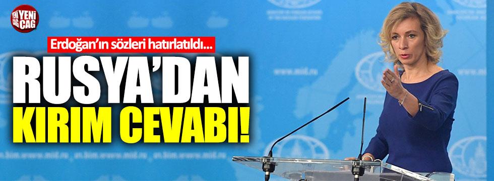 Erdoğan'ın Kırım'la ilgili sözlerine Rusya'dan yanıt geldi