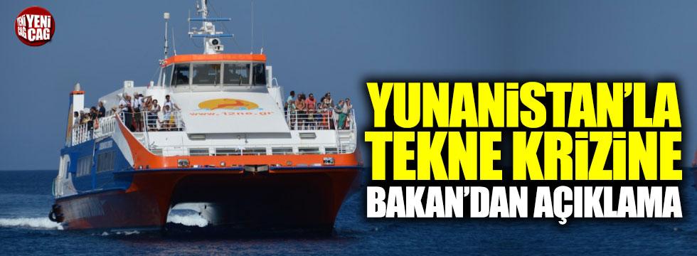 Yunanistan ile tekne krizinde öneli gelişme