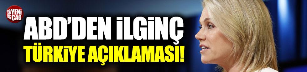 ABD'den ilginç Türkiye açıklaması