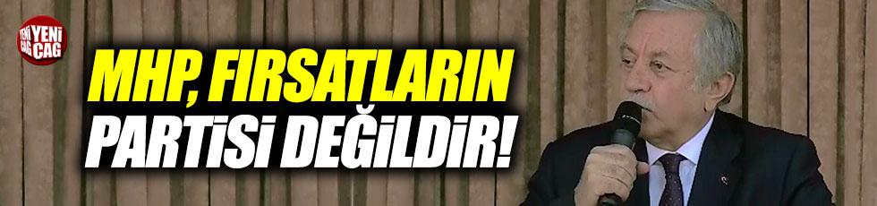 """Adan, """"MHP, fırsatların partisi değildir"""""""