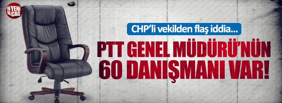PTT'de 60 danışman iddiası