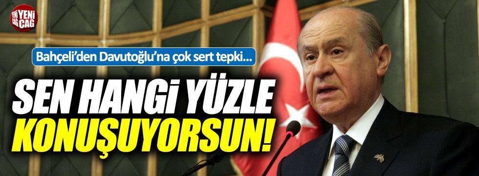 """Bahçeli'den Davutoğlu'na: """"Sen hangi yüzle konuşuyorsun?"""""""
