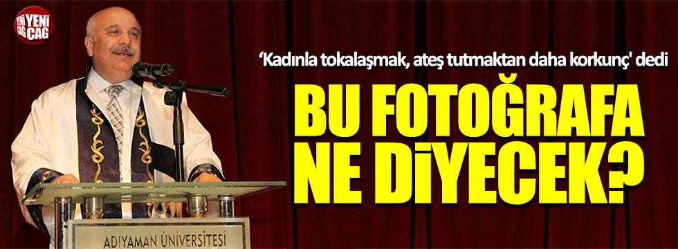 Adıyaman Üniversitesi Rektörü Gönüllü'nün bir kadınla tokalaşırken fotoğrafı çıktı!