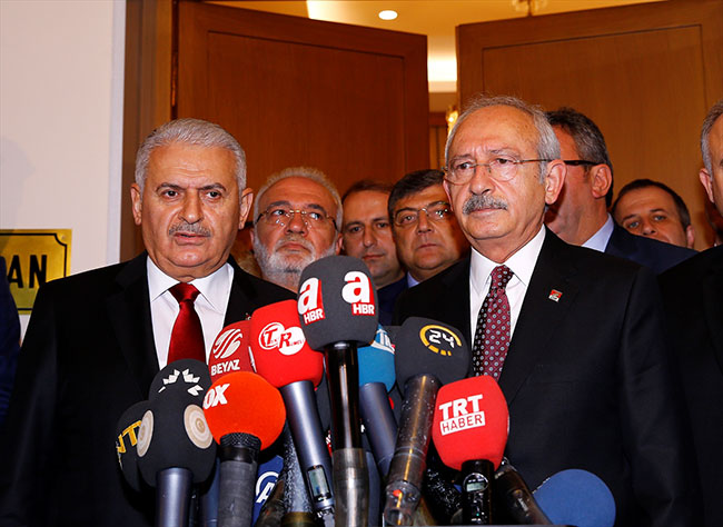 Kılıçdaroğlu ve Yıldırım görüşmenin ardından açıklama yaptı