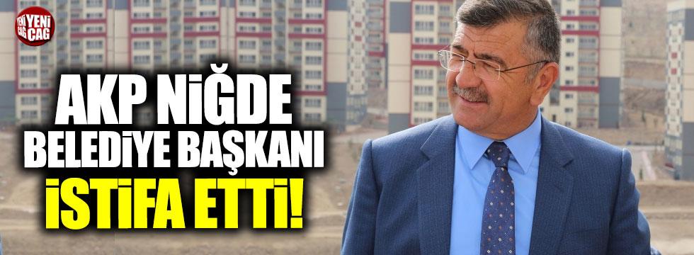 AKP'li Niğde Belediye Başkanı Faruk Akdoğan istifa etti