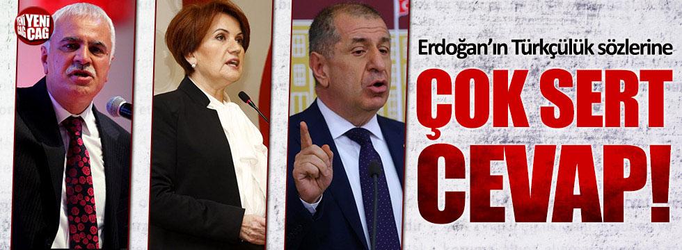 Erdoğan'ın Türkçülük sözlerine Akşener, Özdağ ve Aydın'dan çok sert cevap