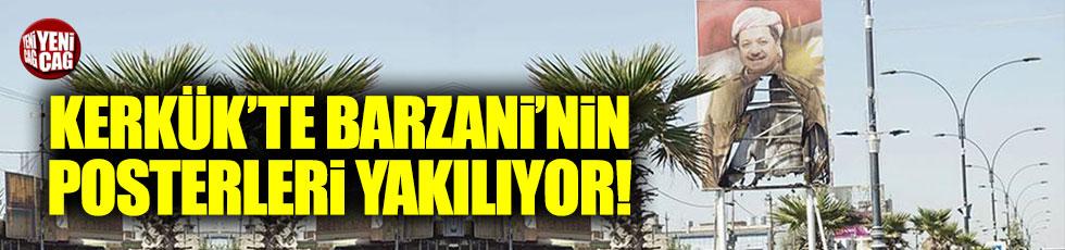 Kerkük'te Barzani'nin posterleri yakılıyor!