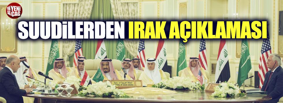 Suudilerden Irak açıklaması