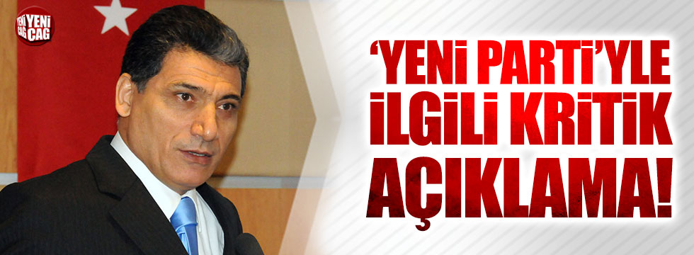 Nuri Okutan'dan 'Yeni Parti'yle ilgili kritik açıklama