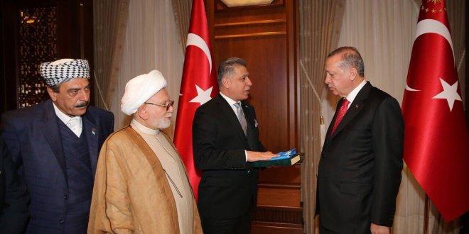 ITC Başkanı Erşad Salihi, Cumhurbaşkanı Erdoğan'ı ziyaret etti