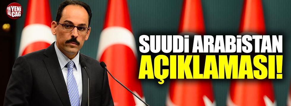 Suudi Arabistan'da yaşananlara Türkiye'den ilk yorum