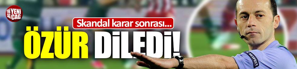 Hatalı penaltıya Cüneyt Çakır'dan açıklama