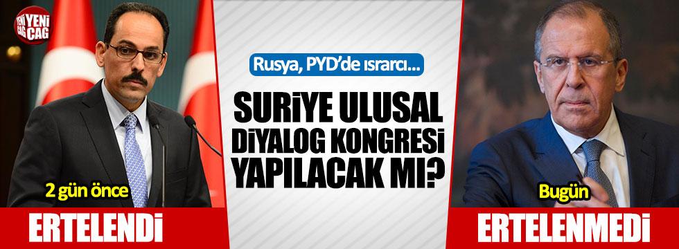 """Rusya: """"Suriye kongresi ertelenmedi"""""""