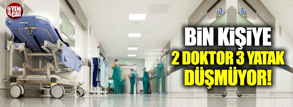 Türkiye'de bin kişiye 2 doktor, 3 yatak düşmüyor!