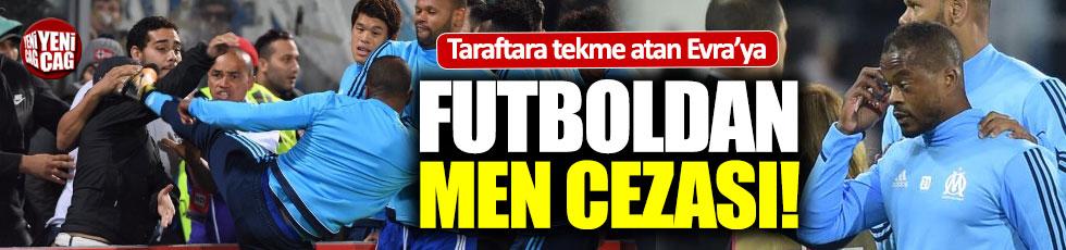 Patrice Evra'ya futboldan men cezası