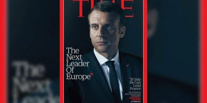 Time dergisi Macron'la dalga geçti