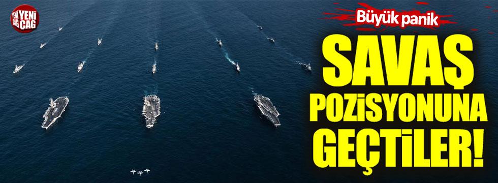 ABD gemileri savaş pozisyonu aldı