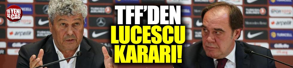 TFF'den Lucescu kararı
