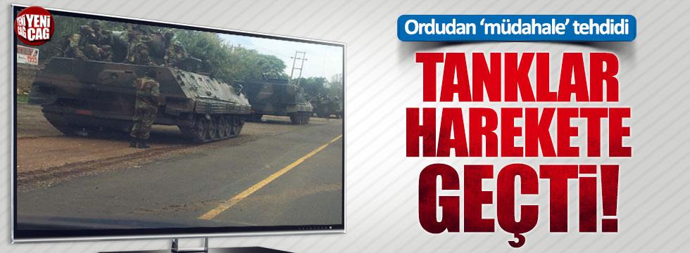 Zimbabwe'de tanklar sokağa indi