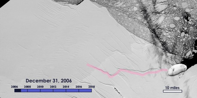 İstanbul büyüklüğünde buz dağı koptu