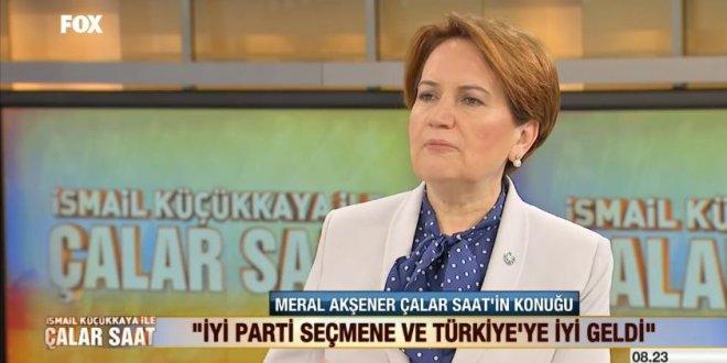 Meral Akşener, FOX TV'de İsmail Küçükkaya'nın konuğu oldu